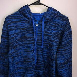L Mens blue/black full zip hoodie new without tags